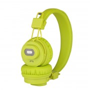 NIA-X5SP Foldable Bluetooth Headset + Speaker Support Micro SD Card Play / FM Radio / APP Control - Green