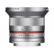 SAMYANG Objetivo SAMYANG 12mm F2.0 Ncs Cs Fuji X (Plata - Encaje: Fujifilm X Mount - Apertura: f/2 - f/22)