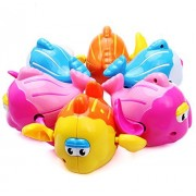 TTKBHHQ 1 PCS Bath Toys,Wind up Baby Bath Toys Swimming Pool Toys Water Toys for Kids,Fish(Random Color)