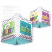 Balon folie cubez 3d welcome baby, 45 cm, 01042