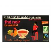 Infusettes thé noir bio Breakfast Jardins de Gaïa