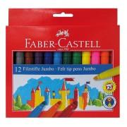 Carioca set 12 culori Jumbo Faber-Castell