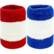 Neska Moda Unisex Pack Of 2 Multicolor Striped Cotton Wrist Band