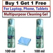 Screen Cleaning Gel Spray Kit With Micro Fiber Cloth Pack For Tablets Buy 1 get 1 Free 100 ml + 100 ml