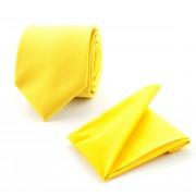 Einstecktuch und Krawatte Seide Gelb F70 - Gelb