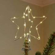 Christmas Top LED decorative light, silver