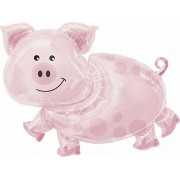Planet Jashn Pig Supershape Balloon, Multi Color