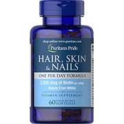 vitanatural hair skin nails - haar, haut, nägel - eins pro tag - 60 softgels