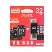 Card de memorie GOODRAM Micro SDHC Class 10 32 GB UHS-I + Adaptor SD si Card Reader Type-C