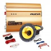 "Auna 2.0""Golden Race V2"" Set HiFi coche amplificador altavoces"
