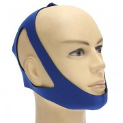 Blue Anti Snoring Chin Strap Snore Stopper Sleep Belt Brace Device