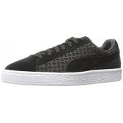 PUMA Men's Suede Classic Emboss V2 Fashion Sneaker, Puma Black, 12 M US