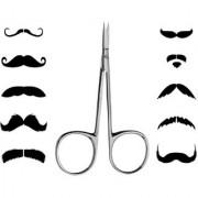 Newvez Moustache Eyebrow Beard Facial Hair Removal Trimming Scissor