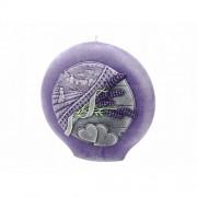 Lumânare decorativă Lavender Kiss, rotundă