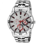 Round Dial TC 04 Stainless Steel Watch- For Men 6 MONTH WARRANTY