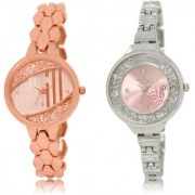 The Shopoholic Rose Gold Pink Combo Best Combo Pack Rose Gold And Pink Dial Analog Watch For Girls Watches For Women