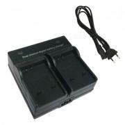 Ismartdigi Camara Digital Bateria Cargador Dual para Sony BK1 - Negro