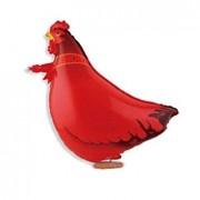 TOOGOO(R) 61*41Cm, Brick Red Chicks ToogooR Cute Walking Pet Balloon Animal Air Walke