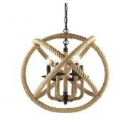 Candelabru Rustic Sfoara Corda SP6 - Ideal Lux