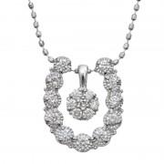 18KWG ダイヤモンド ホースシュー 4way ペンダント【QVC】40代・50代レディースファッション