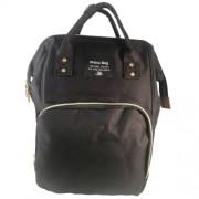 Baba - mama pamutvászon táska fekete színben