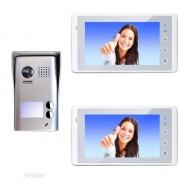 Anykam DT602D+2xDT27WSD Video Türsprechanlage Gegensprechanlage Zweifamilienhaus 2Draht
