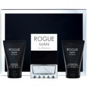 Rihanna Rogue coffret II. Eau de Toilette 100 ml + bálsamo after shave 90 ml + gel de duche 90 ml