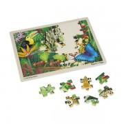 Puzzle din lemn padurea tropicala Melissa and Doug