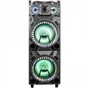 Преносима караоке тонколона ZEPHYR ZP 9999 2G12, 2х12 инча, Bluetooth, USB, Жак за китара, AUX, 2 микрофона, Дистанционно, Черен, ZP 9999 2G12