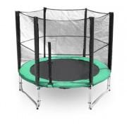 G21 trambulin biztonsági hálóval 250 cm, zöld