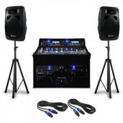 "Set DJ ""Punch Line"" 300 persone mixer da 1200W"