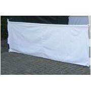 Halfhoog zijpaneel 3 mtr geschikt voor Easy Up tenten in Wit
