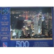 SURE - LOX CITY SCAPES 500 PIECE PUZZLE HONG KONG HARBOUR , CHINA