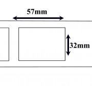 Labels Dymo compatible Labels 57 x 32 mm (11354) (10 st)