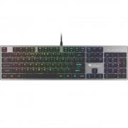 Tastatura mecanica, Genesis Thor 420 RGB, slim Blue Switch, USB, negru
