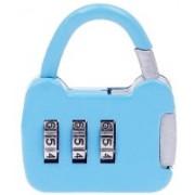 Unique Gadget 3 Digit Metallic Number Lock Small Bag Lock Travel Lock Luggage Re-Settable Password Locks Combination Padlock - LOCKCR13B Safety Lock(Multicolor)