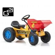 Traktor G21 CLASSIC hordozóval - sárga/kék