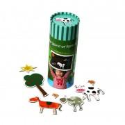 Joc magnetic Momki - Ferma animalelor