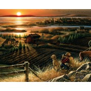 Tablou canvas efect painting - la tara