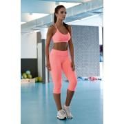 Klaudia 3/4-es funkcionális fitness leggings, neon M