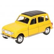 Goki Miniatuur model auto Renault 4 geel 11,5 cm