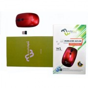 multybyte Wireless Mouse sleek MMPL W-1 For HP (Red Color)