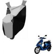 Intenzo Premium Silver and Black Two Wheeler Cover for Yo Bike Yo EXL
