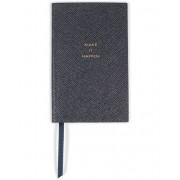"Smythson Panama Notebook Navy ""Make it Happen"""