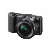 Aparat foto Mirrorless Sony Alpha A5100 24.3 Mpx WiFi NFC Black Kit 16-50mm si 55-210mm