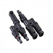 efectoled.com Conectores Multicontact MC4 2/1 para Cable de 4-6mm² Negro