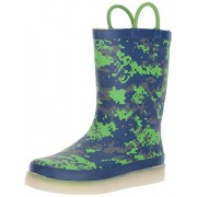 Western Chief Kids Rechargeable LED Rain Boot, Digital Camo, 9 M US Toddler