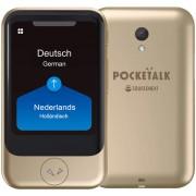 Pocketalk Translator - Vertaalcomputer Pocketalk S Translator (Gold) Draagbare Vertaler - Stem, Foto & Gesprek Vertaalapparaat + Camera + SimCard