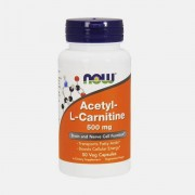 NOW ACETYL L-CARNITINE 500mg 50 CAPSULAS NOW