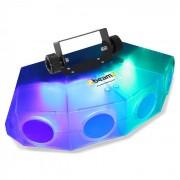 Mini-Moonflower Efeito de Luz com 4 Lentes LED 132 x LEDs RGBA Transparente